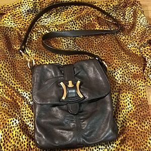 B Makowsky genuine leather crossbody/messenger bag
